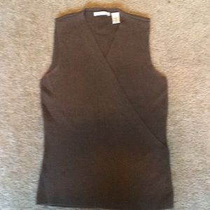 Anne Klein brown size small sweater vest